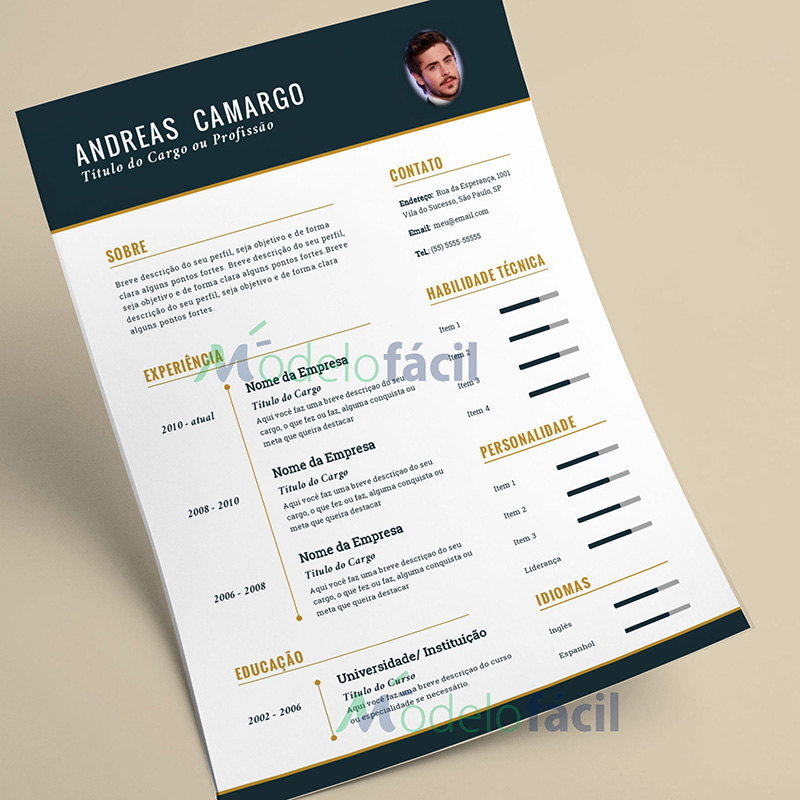 curriculum vitae 2016 download formato word